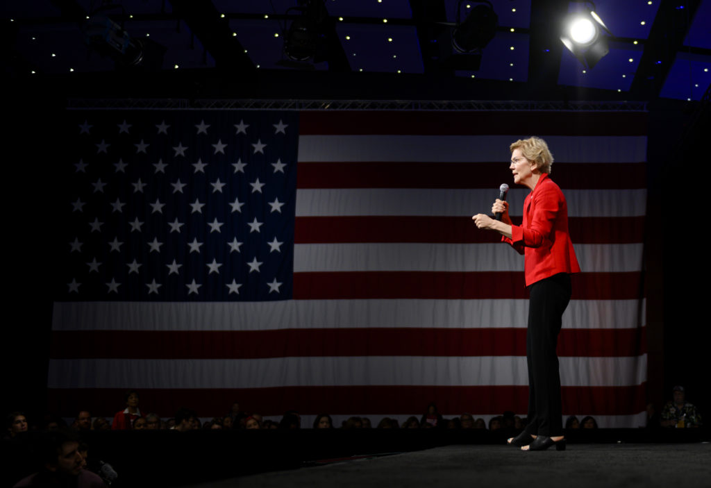 Elizabeth Warren, once a formidable fort-runner in the Democratic presidential nominations, has dropped out. (Stephen Maturen/Getty Images)