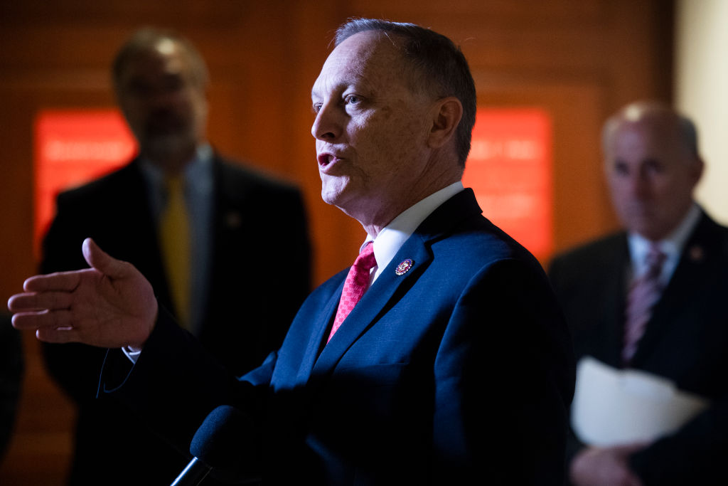 Rep. Andy Biggs, R-Ariz., spoke to a homophobic lobbying group about his reasons for voting against the bill