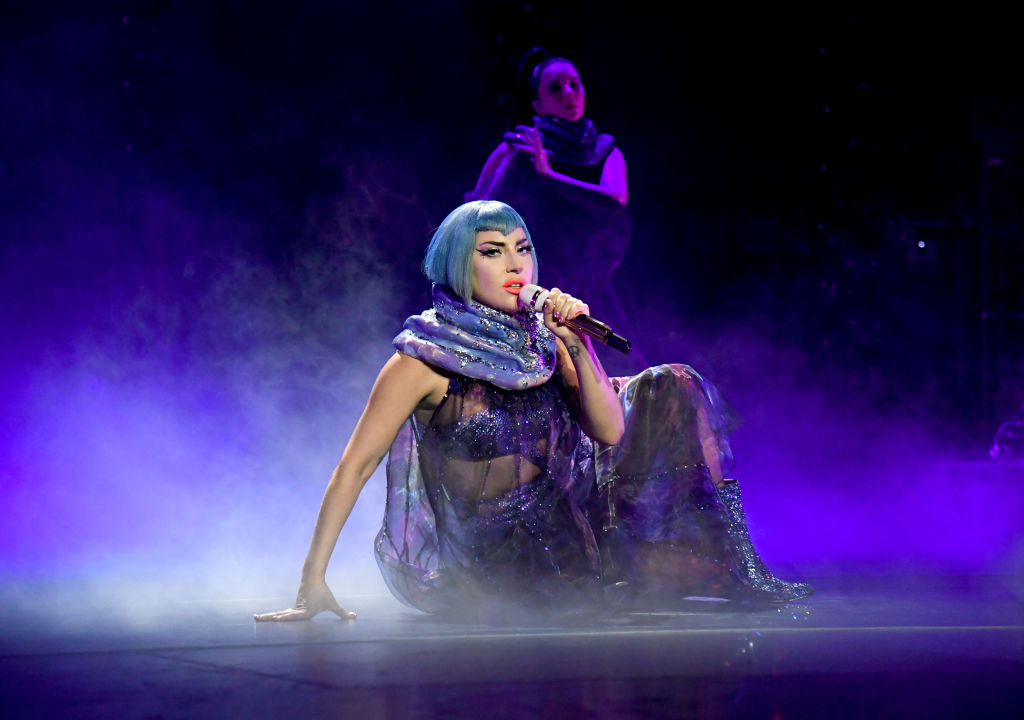 Book: Lady Gaga performs onstage during AT&T TV Super Saturday Night at Meridian at Island Gardens on February 01, 2020 in Miami, Florida.