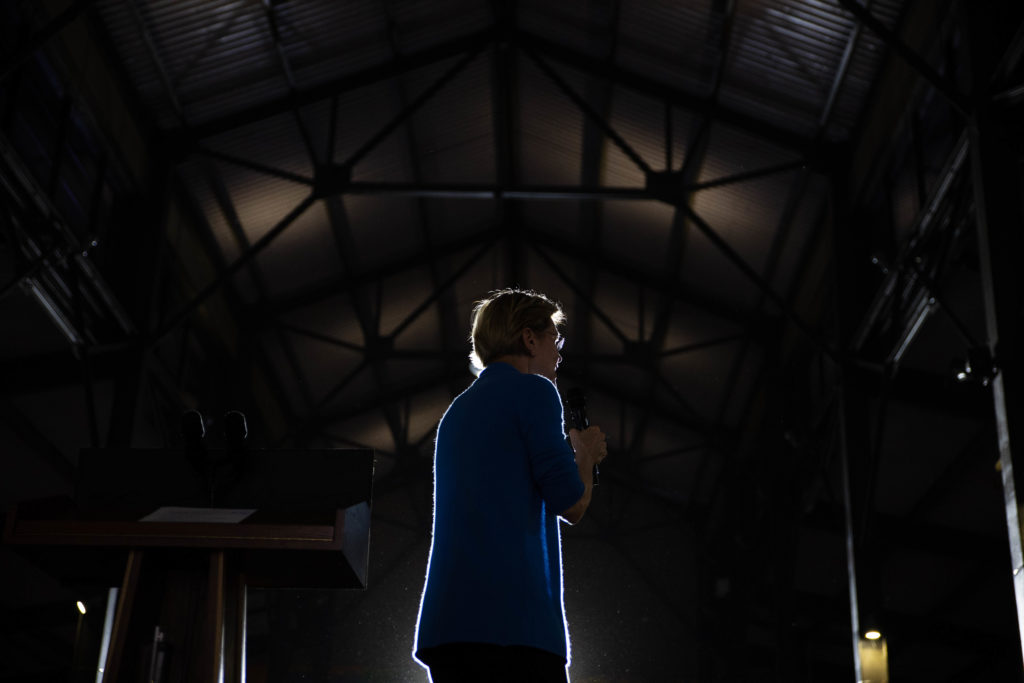 Elizabeth Warren sent jolts of electricity through the progressive elite, but her campaign failed attract working-class and ethnically diverse voters. (Megan Jelinger / Echoes Wire/Barcroft Media via Getty Images)