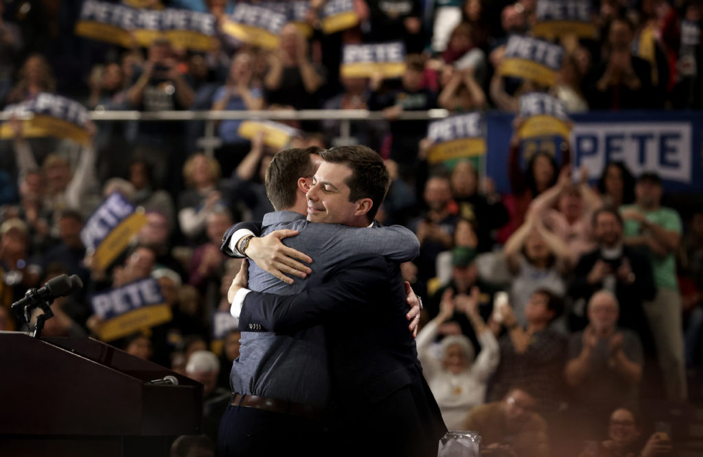 It remains unclear whether Pete Buttigieg last-minute swing for support to Joe Biden will translate to poll numbers. (Win McNamee/Getty Images)