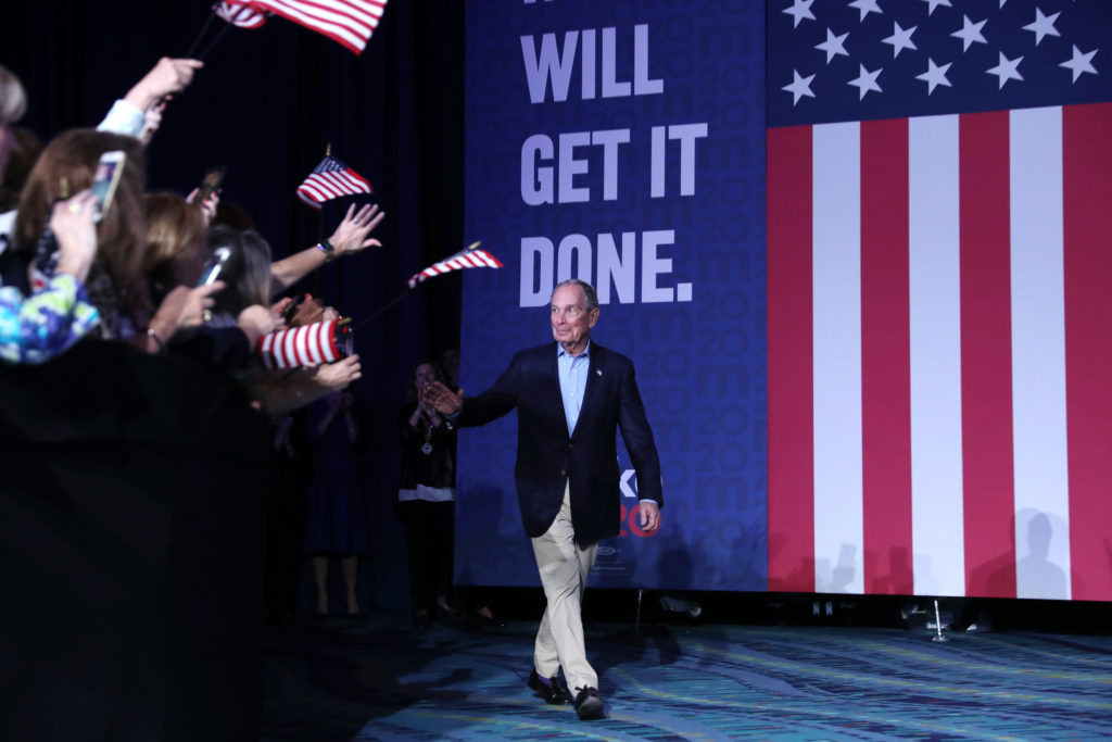 Michael Bloomberg, political analysts have said, splintered much of the moderate Democratic voting bloc. (Joe Raedle/Getty Images)