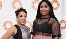 Actress Selenis Leyva and sister Marizol Leyva attend the 2017 Anti-Violence Project Courage Awards at Pier 59 on October 11, 2017 in New York City.