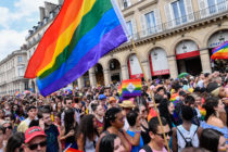 An LGBT+ Pride parade in Paris, France. (Julien Mattia/NurPhoto via Getty Images)