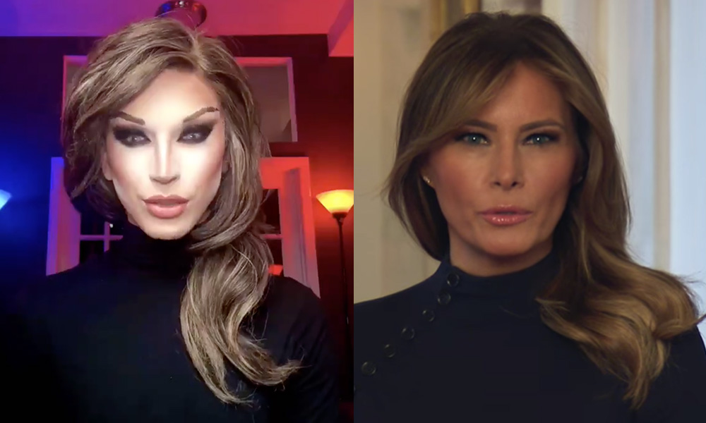 Aquaria and Melania Trump