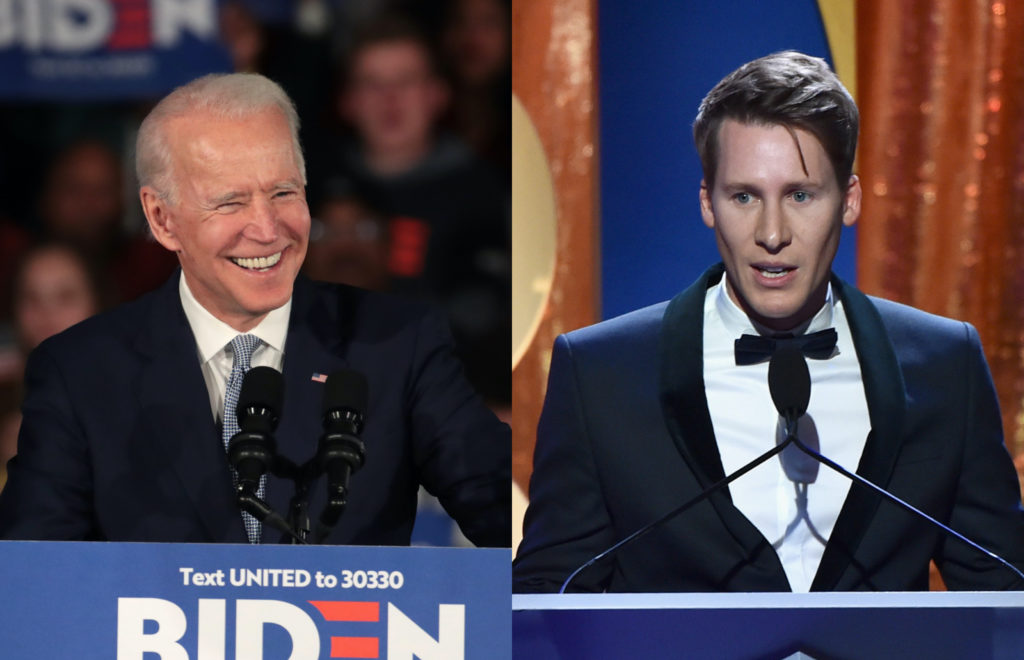 Dustin Lance Black (R) has endorsed Joe Biden, citing his growth on LGBT+ advocacy as a crucial reason. (Alberto E. Rodrigu(Scott Olson/Getty Images/Alberto E. Rodriguez)