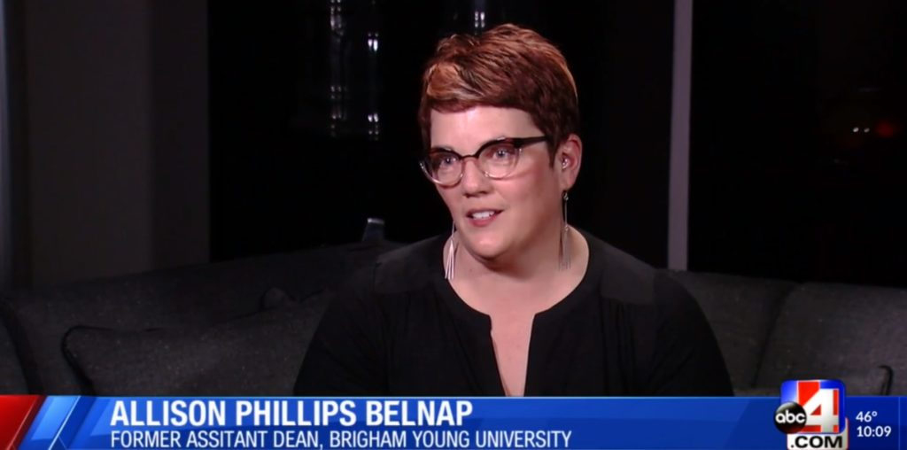 Allison Phillips Belnap served as the assistant dean of the Brigham Young University law school