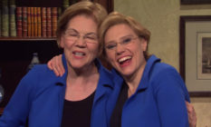 Elizabeth Warren and Kate McKinnon on Saturday Night Live