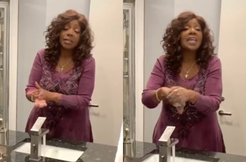 Gloria Gaynor's 'I will survive' challenge to encourage handwashing