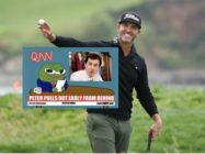 Featuring the Pepe the Frog meme – a poster meme for alt-right communities – and homophobic slurs, golfer Scott Piercy saw several brand deals lost. (Christian Petersen/Getty Images)