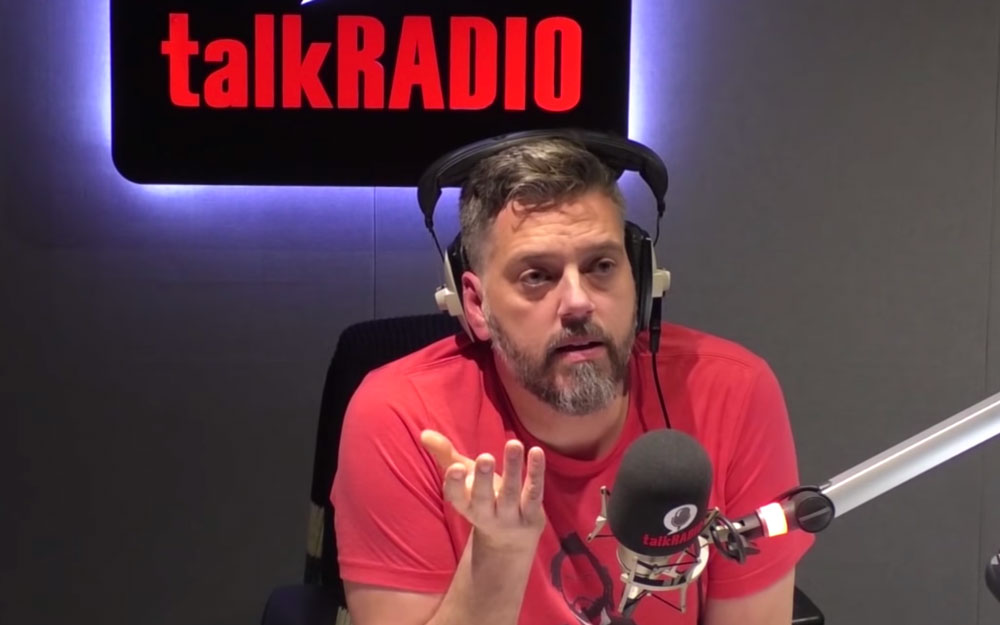 Iain Lee in the talkRadio booth