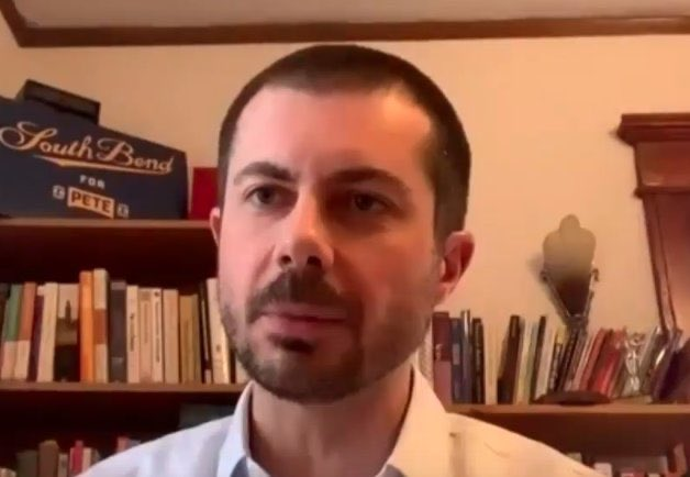 In news you simply had to read 300 words on because you clicked this link, former Democratic presidential candidate Pete Buttigieg has shaved his head. (Screen capture via Twitter)