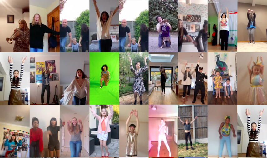 """Across 44 countries, countless cooped-up folks featured in the """"Get Up"""" music video, a song beaming with motivation and survival. (From the """"Get Up"""" music video)"""