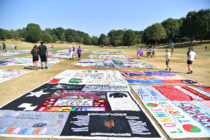 Aids memorial quilt scraps being used to make coronavirus masks