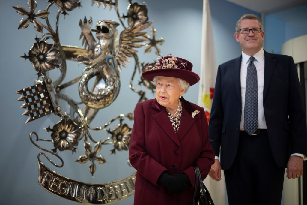 Queen Elizabeth II with MI5 Director General Andrew Parker