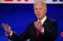 Democratic presidential hopeful former US vice president Joe Biden