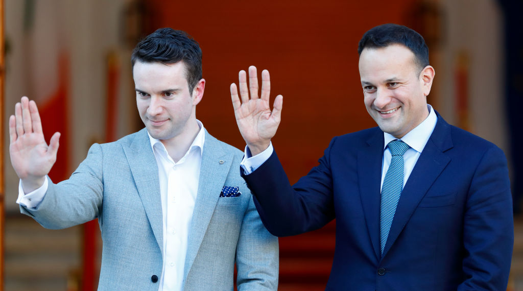 Taoiseach of Ireland Leo Varadkar and his partner Matthew Barrett