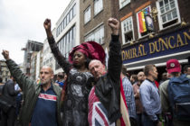 A vigil outside the Admiral Duncan pub in Soho