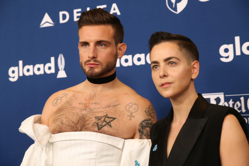 Nico Tortorella and Bethany Meyers attend the 29th Annual GLAAD Media Awards in 2018. (Rob Kim/WireImage)