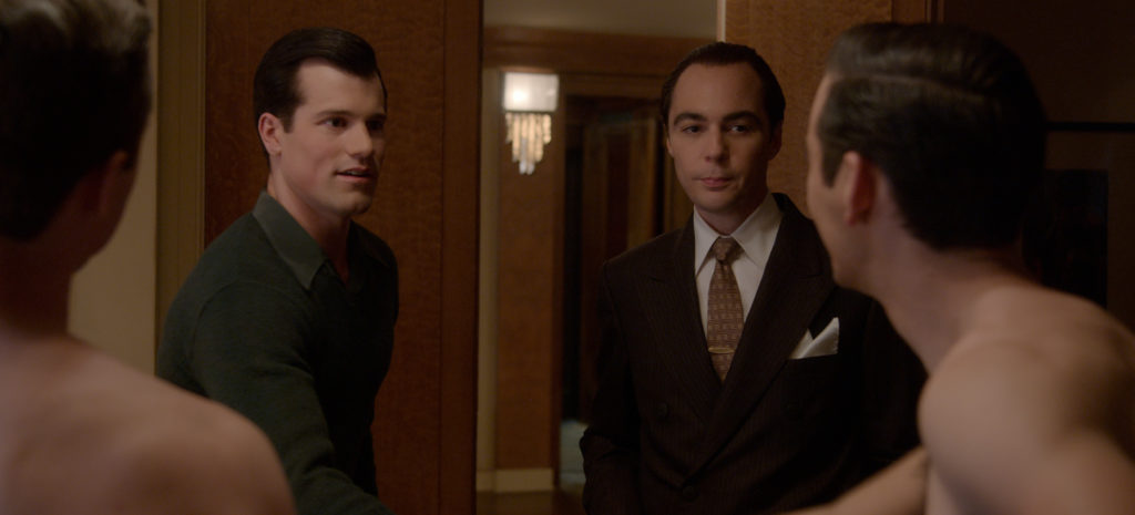 Jake Picking as Rock Hudson and Jim Parsons as Henry Wilson in the new Ryan Murphy series Hollywood