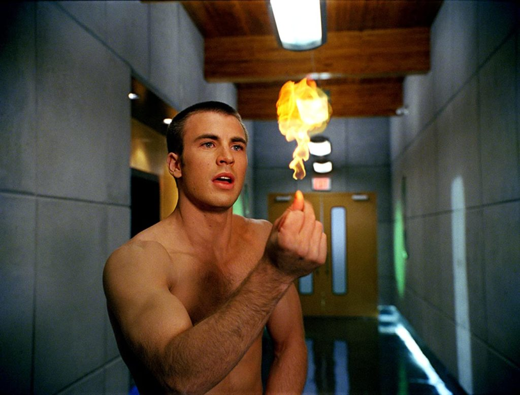 Chris Evans in the 2005 film Fantastic Four apparently lit a fire for many a queer man, apparently. (IMDb/Twentieth Century Fox)