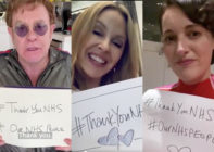 (From L-R) Elton John, Kylie Minogue and Phoebe Waller-Bridge and many more paid tribute to NHS workers shaken by the viral pandemic. (Screen captures via Twitter)
