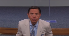 Kenneth Copeland blows wind of god