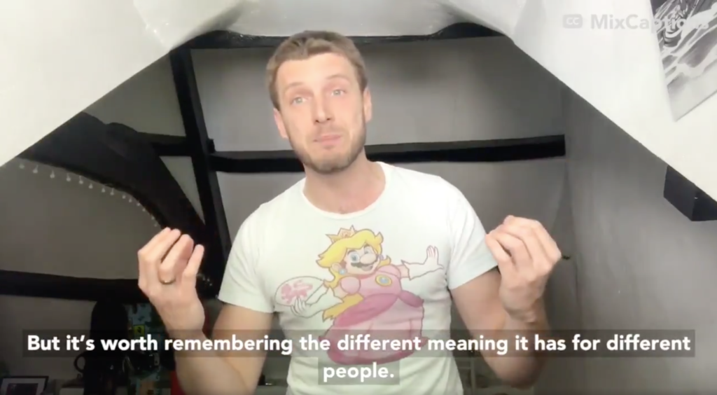 Queer museum staffer Sacha Coward broke down the semiotic history of the rainbow in a tidy 60 seconds. (Screen capture via Twitter)