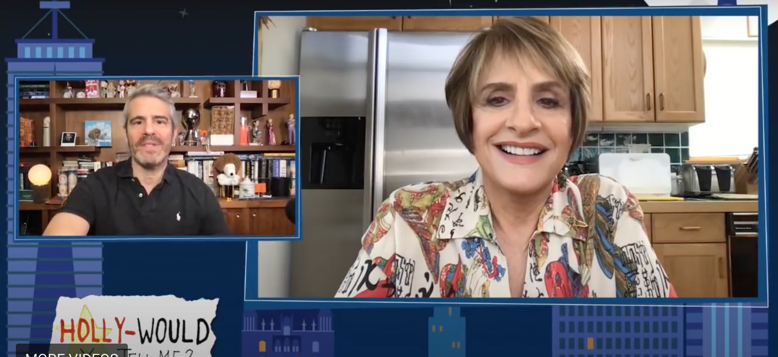 Patti LuPone was peak Patti LuPone on an episode of Watch What Happens Next with Andy Cohen. (Screen capture via YouTube)