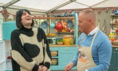 Noel Fielding and Judge Rinder on Bake Off