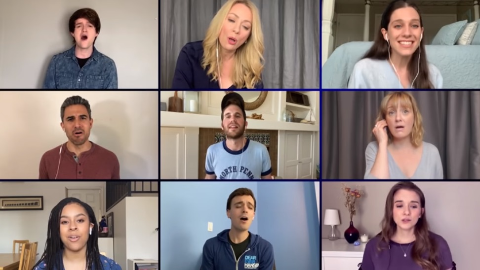 Ben Platt led the Dear Evan Hansen cast in the at-home rendition of 'You Will Be Found'