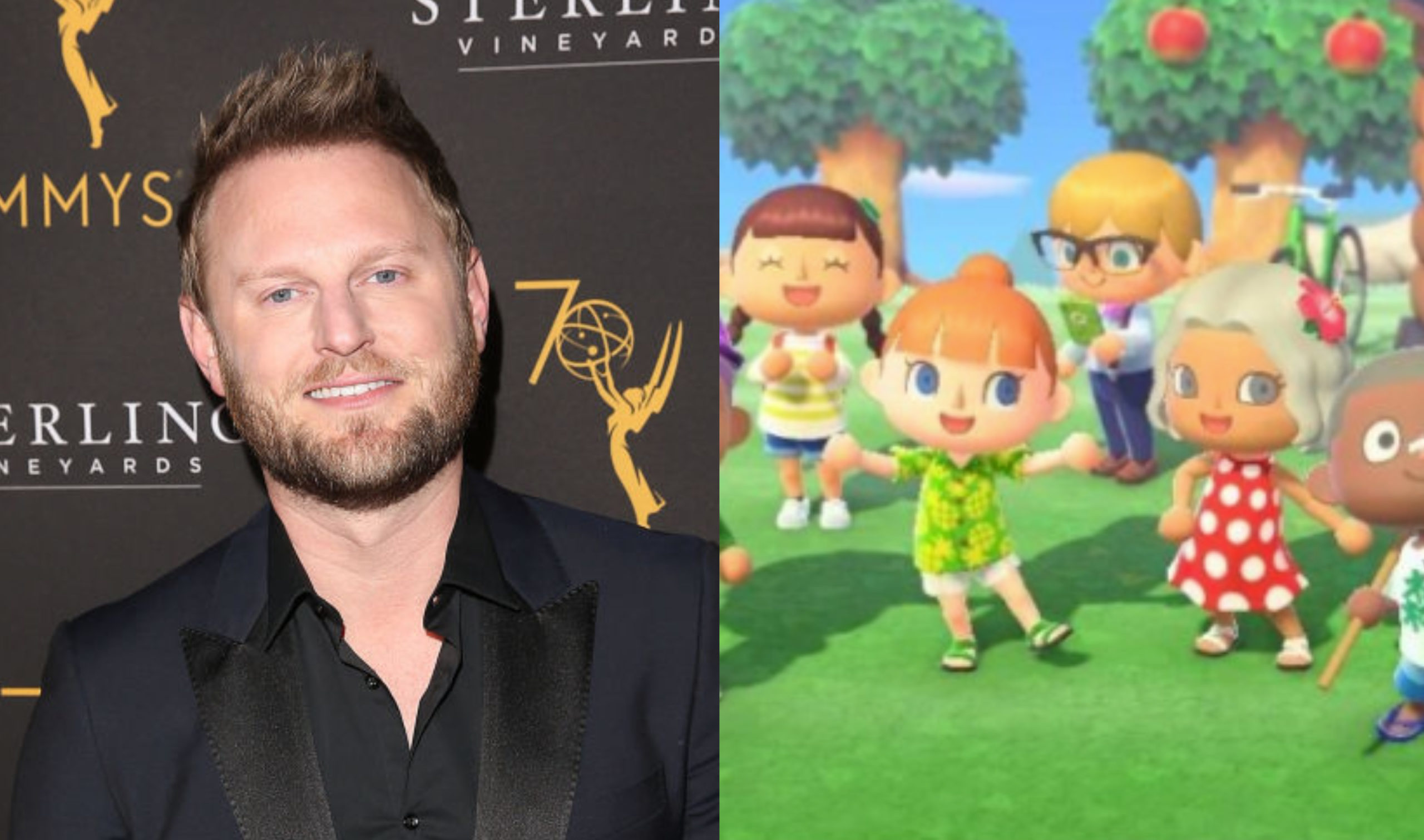 Queer Eye star Bobby Berk gave Animal Crossing: New Horizon fans a masterclass in home decor. (Jesse Grant/Getty Images/Nintendo)