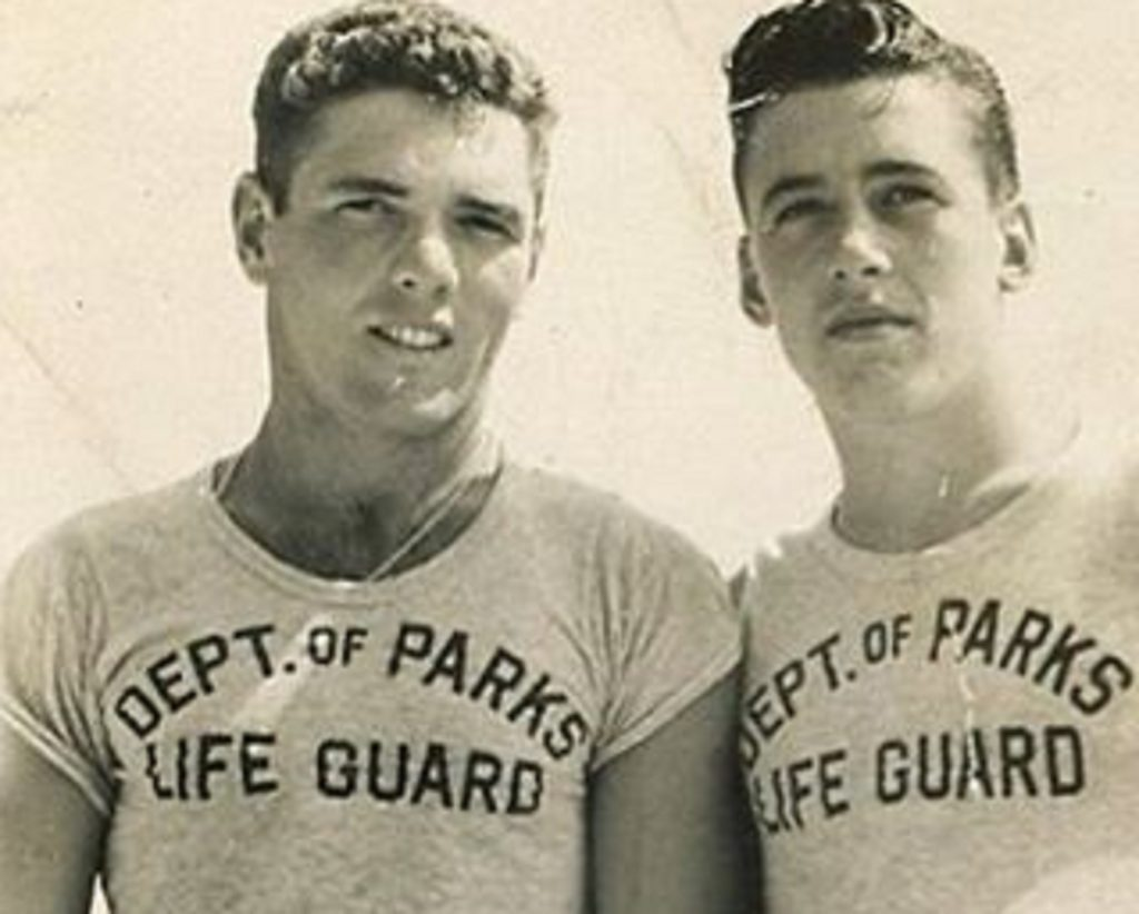 Lifeguards Buzz and Tommy in 1949