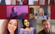The cast of High School Musical reunited for Disney Family Singalong. (Screen captures via Twitter/ABC)