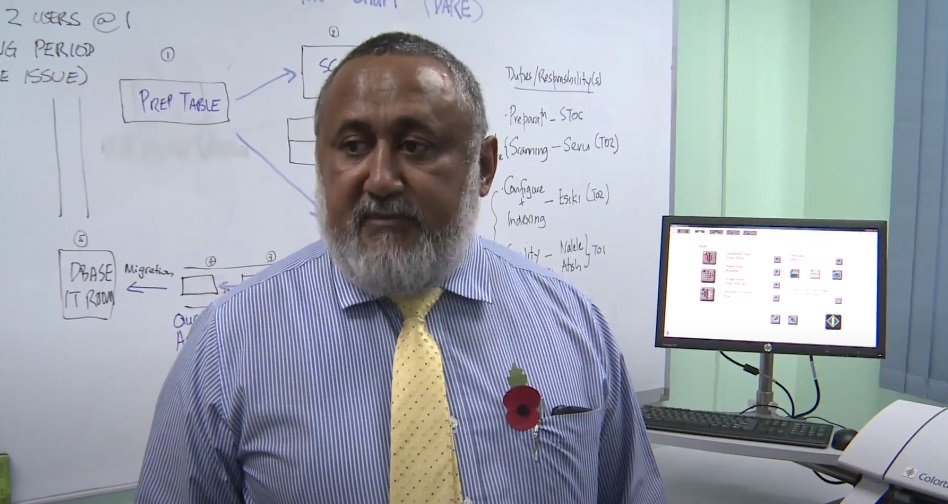 Francis Kean, chairman of the Fiji Rugby Union
