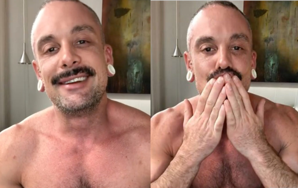 Project Runway winner Geoffrey Mac has launched an OnlyFans account. (Screen captures via Instagram)