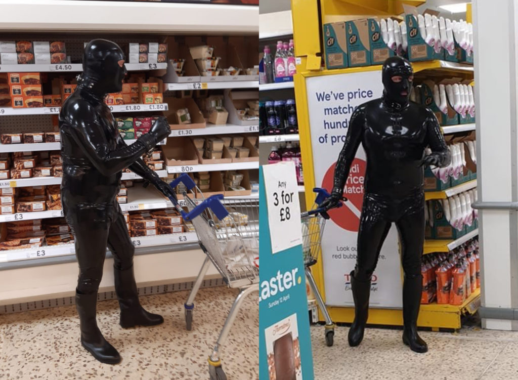 The Gimp Man of Essex has stunned shoppers, battled by the coronavirus pandemic, in Colchester, England, for weeks. All he wants is for folks to smile more. (Twitter)