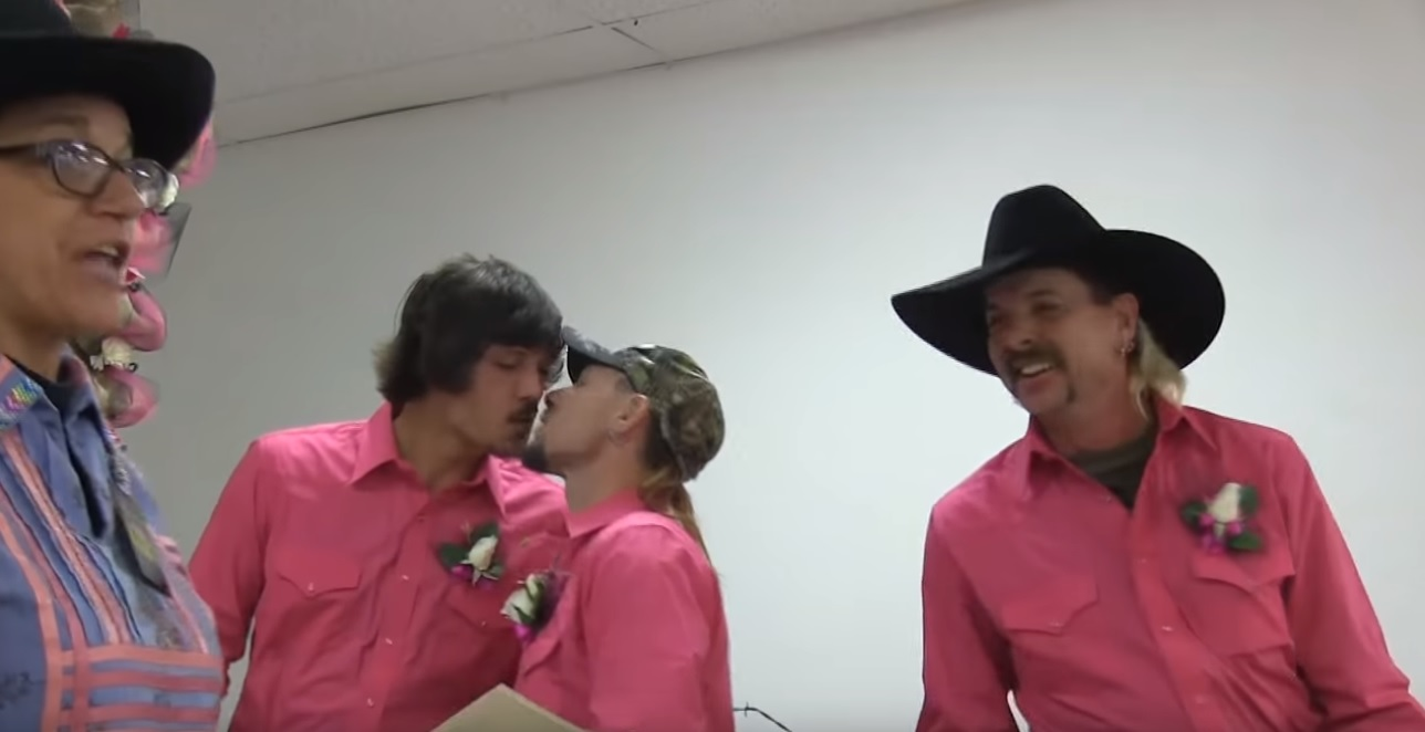 The full wedding was recorded by Joe Exotic TV