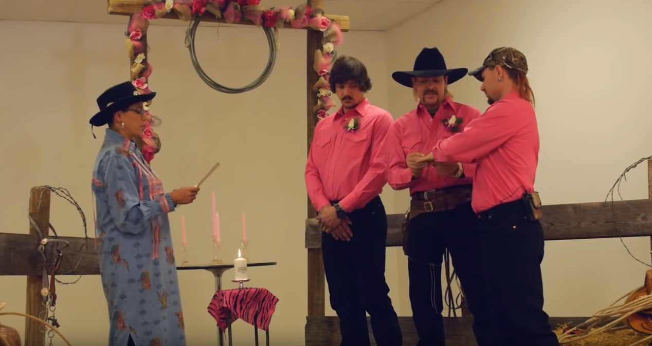 Tiger King star Joe Exotic had an extremely pink theme for his wedding