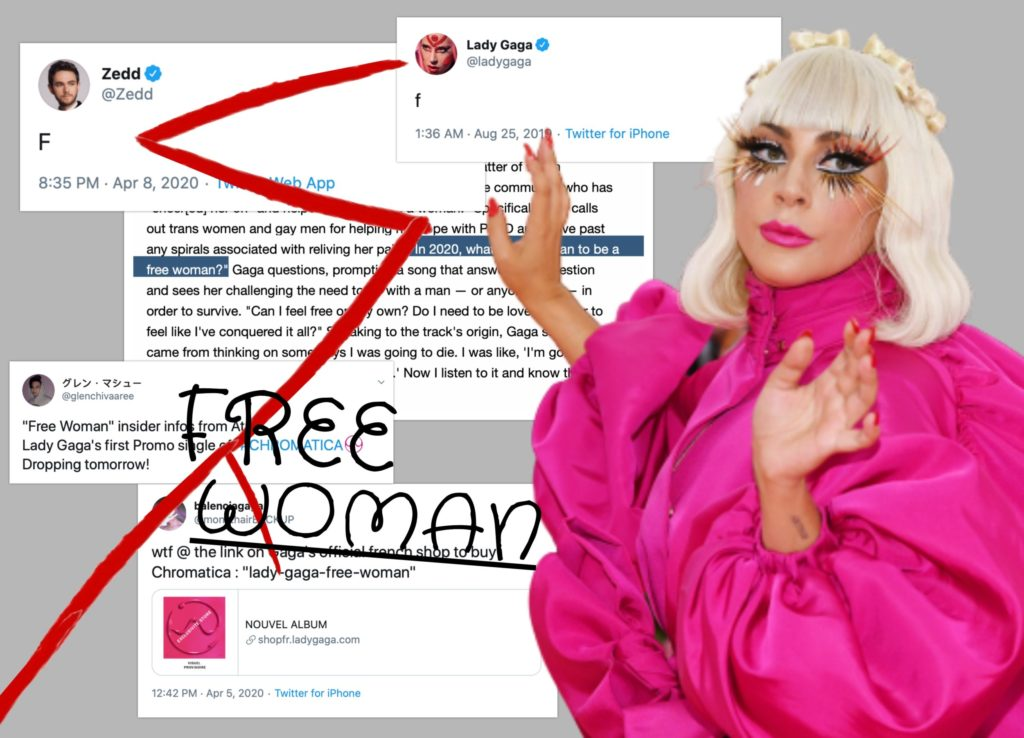 Lady Gaga and Free Woman tweets