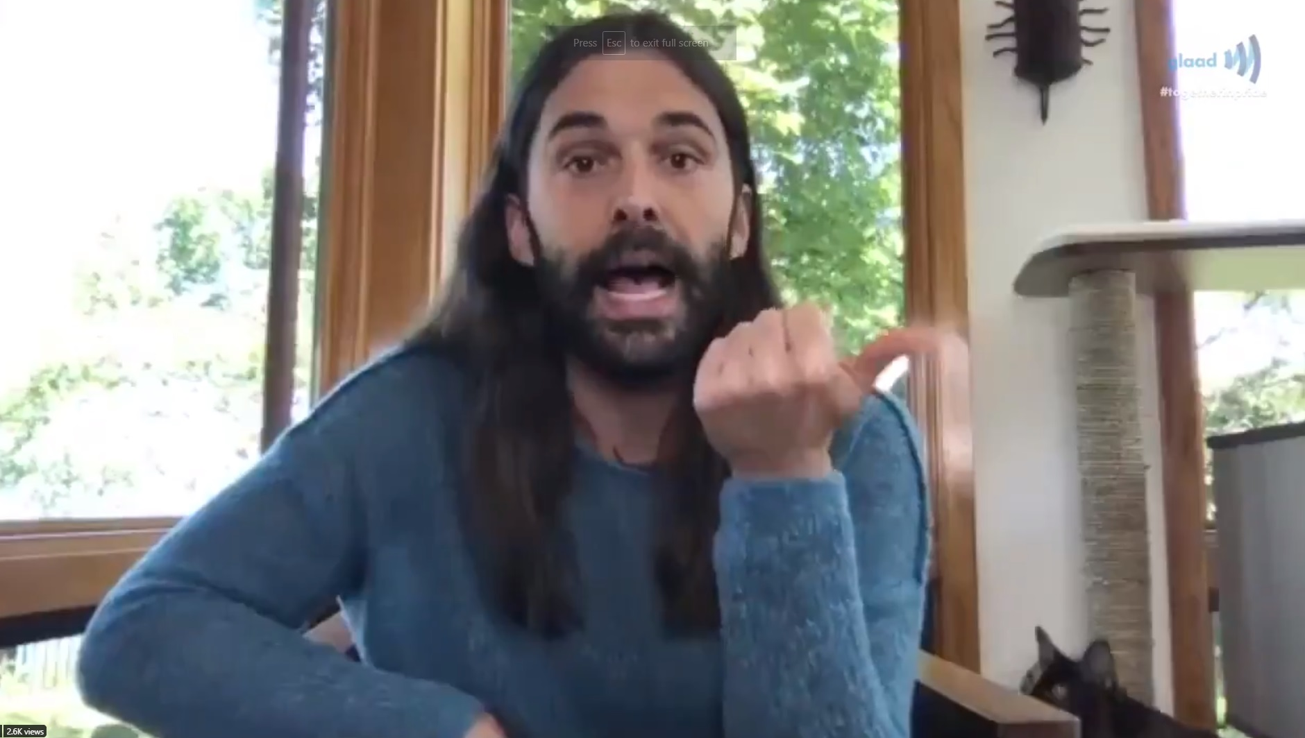 Jonathan Van Ness spoke to TV host Lilly Singh in a GLAAD live stream on Sunday.