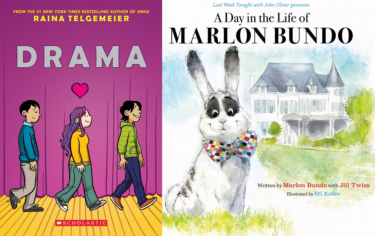 A Day in the Life of Marlon Bundo by Jill Twiss and Raina Telgemeier's queer graphic novel Drama are on the banned books list