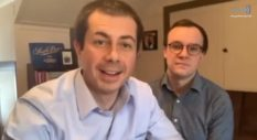 Pete Buttigieg and Chasten Buttigieg in GLAAD's Together in Pride livestream