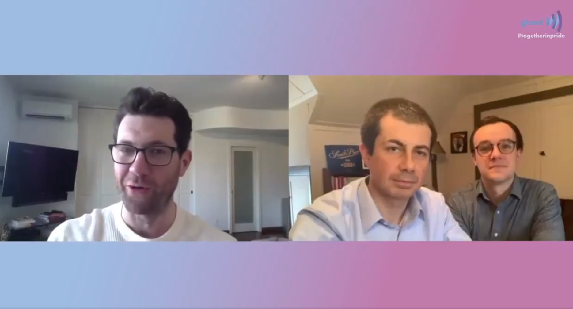 Billy Eichner quizzed Pete Buttigieg and Chasten Buttigieg on GLAAD's Together in Pride livestream