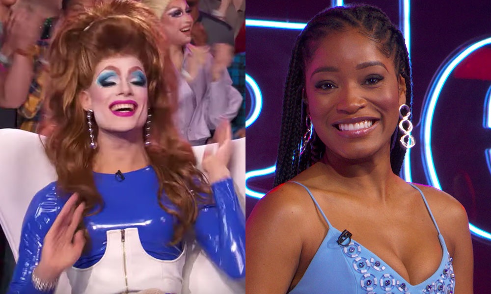 Singled Out host Keke Palmer and drag queen contestant