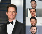 (Clockwise) Actors Cheyenne Jackson, Fin Wittrock, Max Greenfield Wes Bentley and Matt Bomer. (Getty Images)