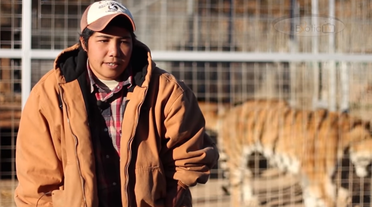 Saff, featured in the Netflix documentary Tiger King