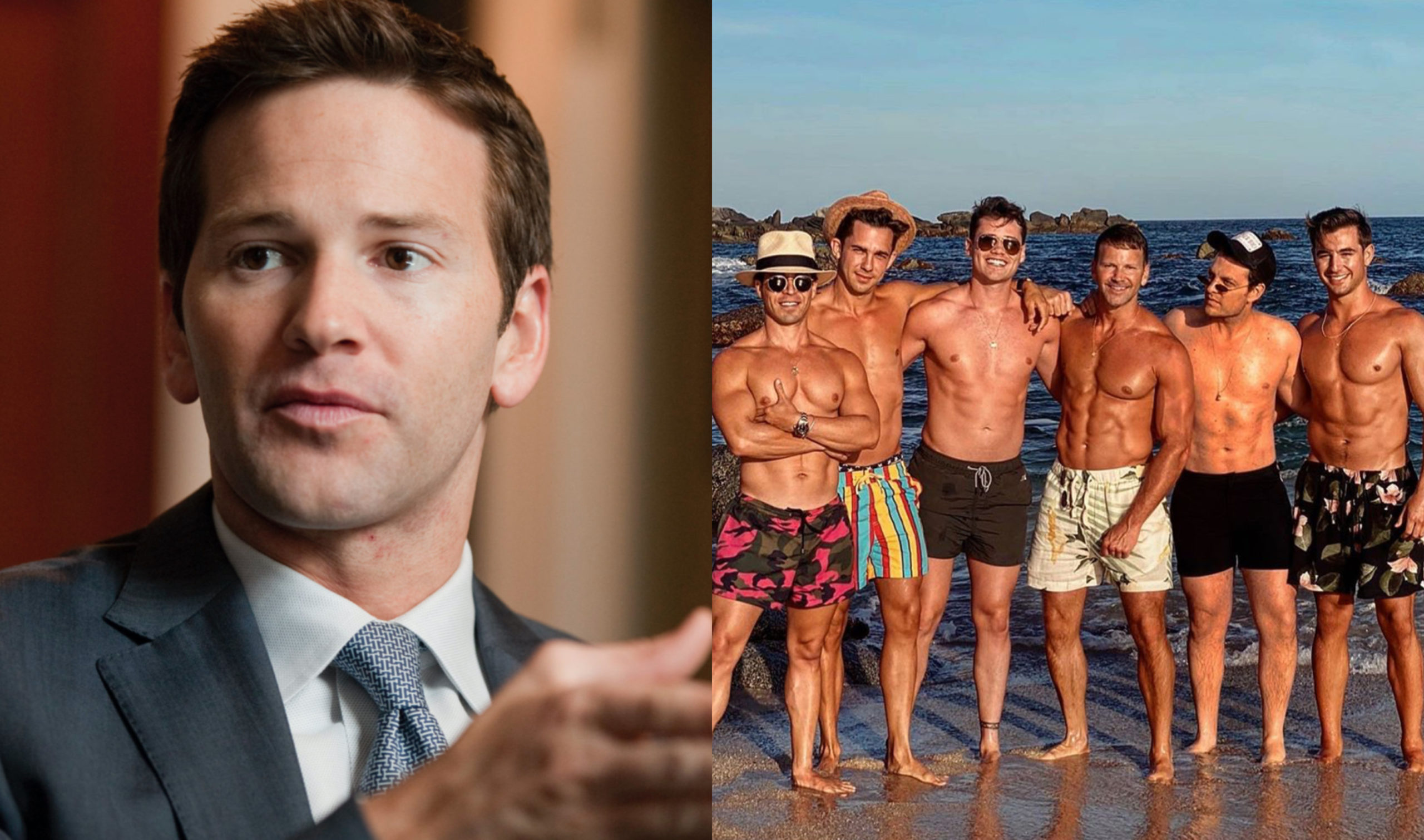 Aaron Schock, once rising star of the Republican Party, was pictured at a Mexican resort town, prompting outrage from LGBT+ community leaders. (Tom Williams/CQ Roll Call via Getty Images/ Instagram)