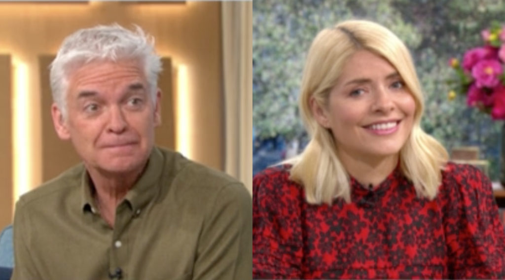 Philip Schofield mimed waxing Holly Willoughby's vagina on This Morning and our decent into madness during the coronavirus pandemic is complete. (Screen capture via ITV)