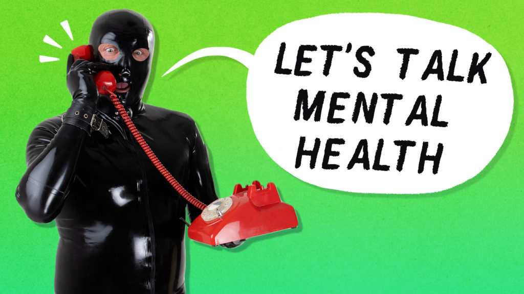 Spotted in a latex suit, a buckled hood and heavy black wellies, the Gimp Man of Essex is raising money for mental health charities, a cause he's ardently passionate for. (PinkNews)